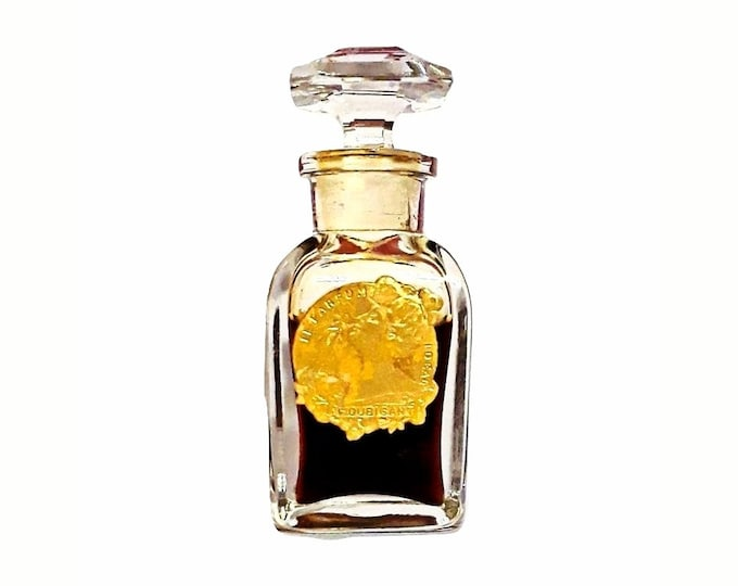 Antique Ideal Perfume by Houbigant 0.5 oz (15ml) Pure Parfum Vintage 1920s Extrait Baccarat Bottle