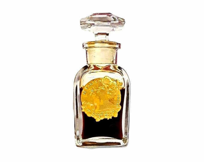 Antique 1920s Ideal by Houbigant 0.5 oz (15ml) Pure Parfum Extrait Baccarat Bottle VINTAGE PERFUME