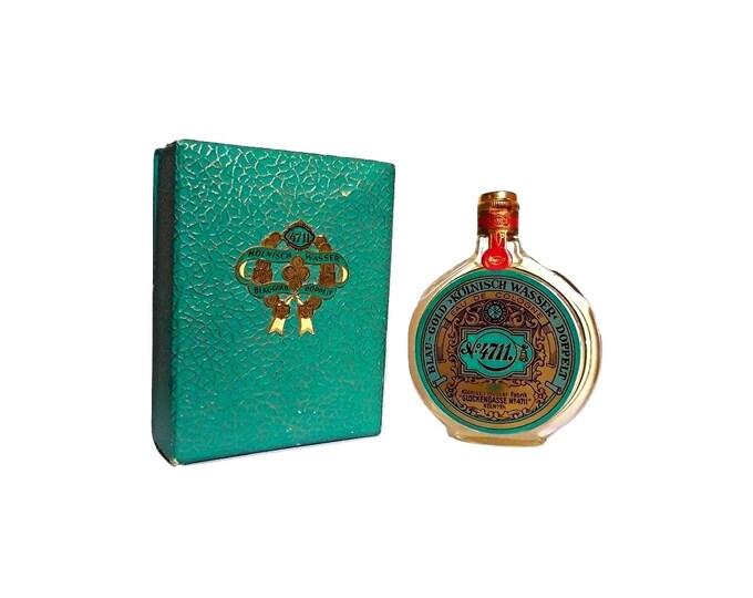 Vintage 4711 Blau Gold Kölnisch Wasser Perfume 1.7 oz Eau de Cologne Splash 1960s Formula