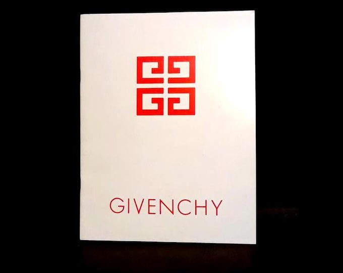 Vintage 1970s Givenchy Fragrance Consultant Employee Training Manual Women's Perfumes Men's Colognes