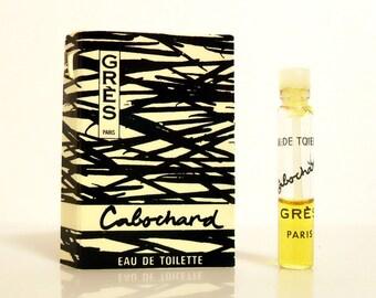 Vintage 1970s Cabochard by Gres Eau de Toilette Sample Vial on Card PERFUME