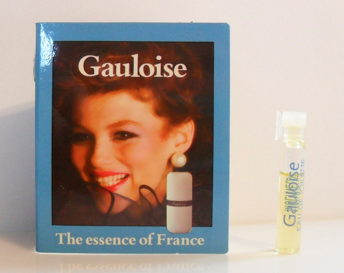 Vintage 1980s Gauloise by Molyneux Eau de Toilette Sample Vial on Card PERFUME