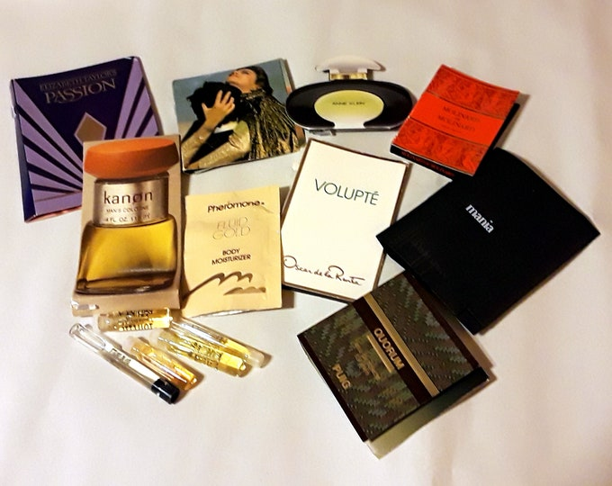 Vintage Perfume Sample Lot of 14 Assorted Brands Men's Women's Fragrance Samples