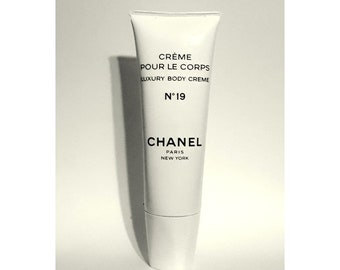 Vintage 1980s Chanel No. 19 by Chanel 3.5 oz Luxury Body Cream Creme Pour Le Corps Tube DUMMY PERFUME FACTICE