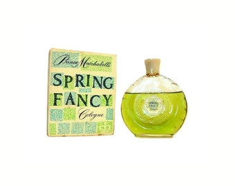 Vintage 1950s Spring Fancy by Prince Matchabelli 4 oz Cologne Splash and Box PERFUME