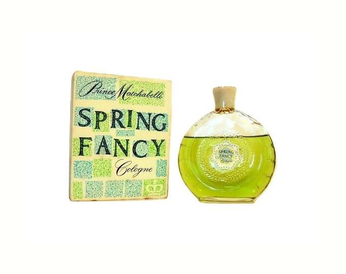 Vintage Spring Fancy Perfume by Prince Matchabelli 4 oz Cologne Splash and Box 1950s Formula
