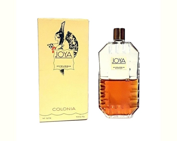 Vintage Joya by Myrurgia Perfume 1 oz (30ml) Cologne Splash 1950s Colonia and Box