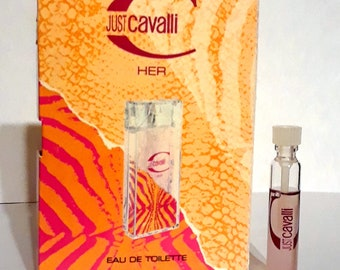 Just Cavalli Her by Roberto Cavalli 0.05 oz Eau de Toilette Sample Vial on Card