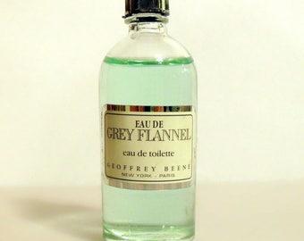 Vintage 1980s Grey Flannel by Geoffrey Beene 0.5 oz Eau de Toilette Mini Miniature COLOGNE