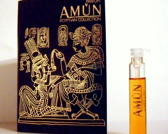 Vintage 1980s Amun by Payot 0.07 oz Parfum Sample Vial on Card PERFUME