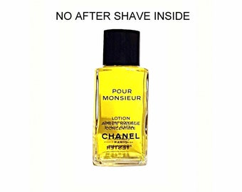 Vintage 1980s Chanel Pour Monsieur 1.7 oz Lotion Apres Rasage Concentree After Shave FACTICE DUMMY COLOGNE