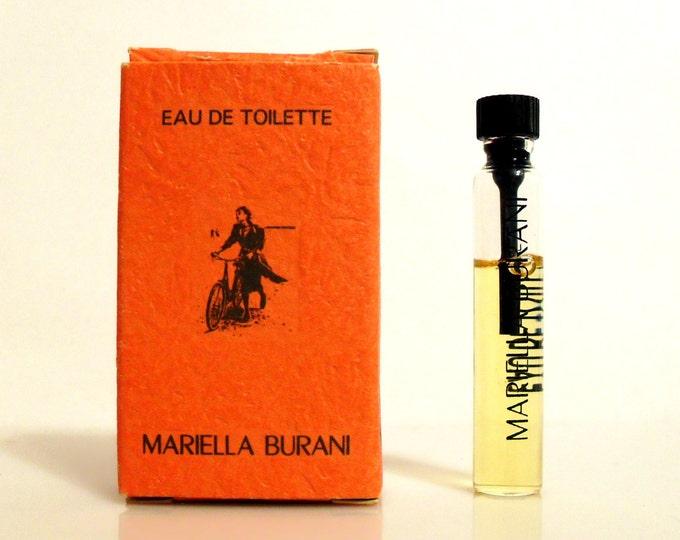 Vintage 1990s Mariella Burani by Mariella Burani 0.057 oz Eau de Toilette Sample Vial in Box PERFUME