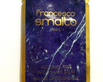 Vintage 1980s Francesco Smalto Pour Homme 0.26 oz After Shave Balm Sample Packet COLOGNE