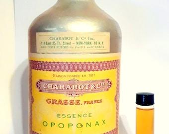 Vintage 1930s 2 Dram (0.25 oz) Essence Opoponax Charabot PERFUME BASE Fragrance Creation Essential Oil Perfumery Making