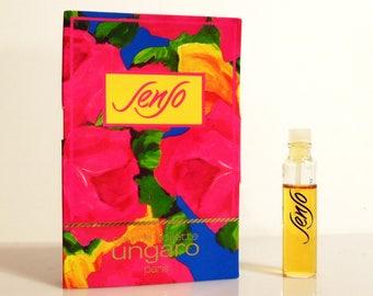 Vintage 1980s Senso by Ungaro 0.10 oz Eau de Toilette Sample Vial on Card PERFUME