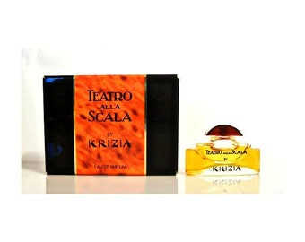 Vintage 1980s Teatro Alla Scala by Krizia  0.17 oz Eau de Parfum Mini Miniature Perfume and Box