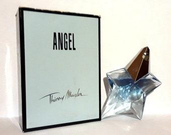 Angel by Thierry Mugler 0.8 oz Eau de Parfum Refillable Spray Star and Box PERFUME