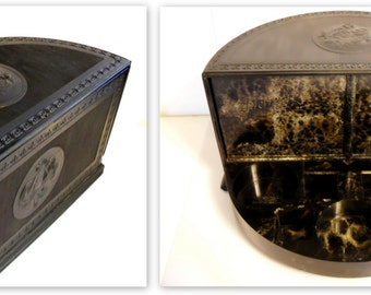 Antique 1920s Pierre Cosmetics Company Counter Display for Skincare, Compacts or Toiletries