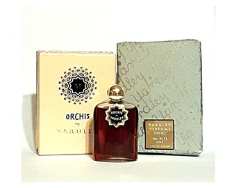 Antique 1930s Orchis by Yardley 0.25 oz (7.5ml) Pure Parfum and Box Art Deco Vintage PERFUME