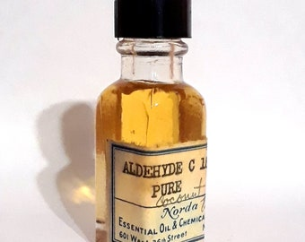 Vintage 1930s 5ml Aldehyde C18 Pure PERFUME BASE Waxy Buttery Coconut Essential Oil Perfumery Making