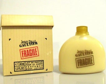 Vintage 1990s Fragile by Jean Paul Gaultier 1.3 oz Perfumed Body Cream in Box Travel Size