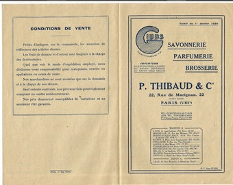 Antique 1926 Gibbs Thibaud Parfums Perfume Merchandise Pamphlet Ancien Brochure Parfumerie Ephemera #2