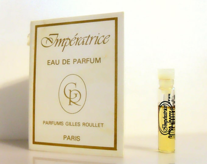 Vintage 1980s Imperatrice by Gilles Roullet 0.03 oz Eau de Parfum Sample Vial on Card PERFUME