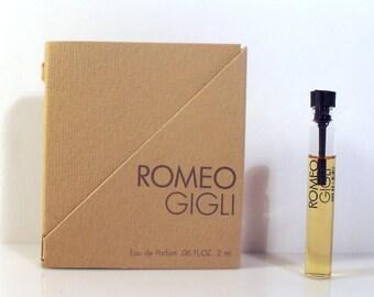 Vintage 1980s Romeo di Romeo Gigli 0.06 oz Eau de Parfum Sample Vial on Card PERFUME
