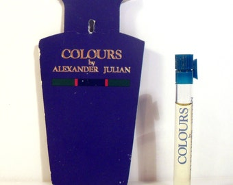 Vintage 1990s Colours by Alexander Julian Cologne Sample Vial on Card PERFUME