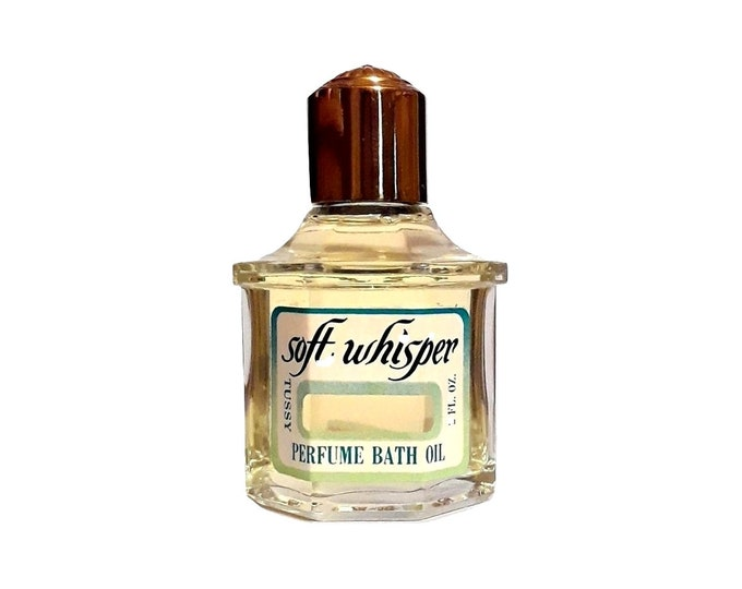 Vintage Soft Whisper by Tussy 2 oz Perfume Bath Oil Splash 1960s DISCONTINUED PERFUME