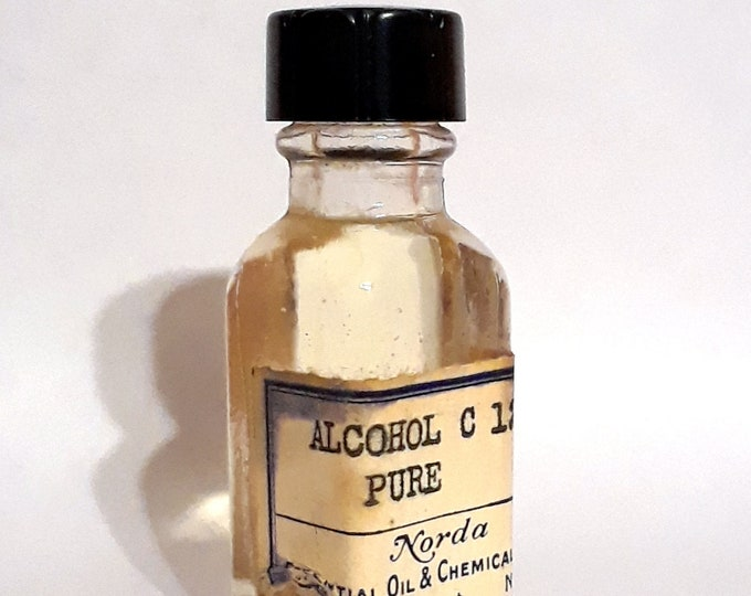 Vintage 1930s 5ml Alcohol C12 Pure Dodecanol Lauryl Alcohol PERFUME BASE Earthy Soapy Fatty Waxy Green