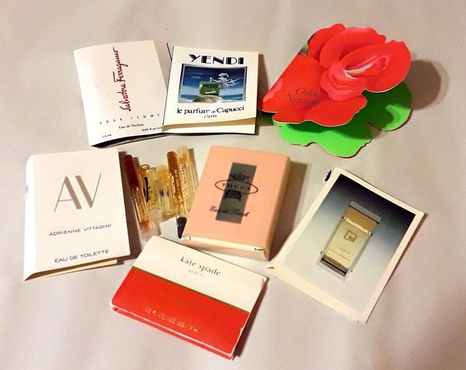 Vintage Perfume Sample Lot of 12 Assorted Brands Men's Women's Fragrance Samples