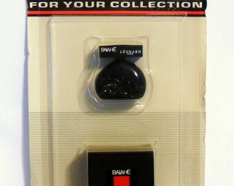 Vintage 1980s Balahe by Leonard 0.125 oz Eau de Toilette Mini Miniature Perfume and Box