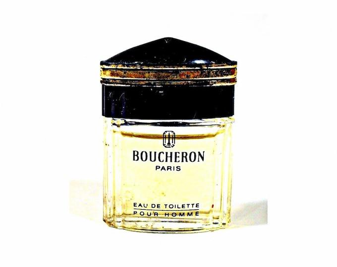 Vintage 1990s Boucheron Pour Homme 4.5ml Eau de Toilette Collectible Mini Perfume Bottle