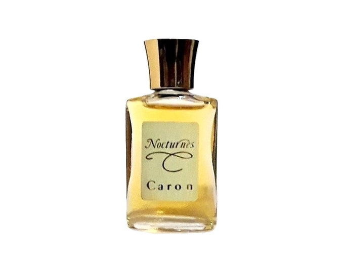 Vintage Nocturnes by Caron Perfume 0.25 oz Pure Parfum Splash 1980s Formula Mini Miniature