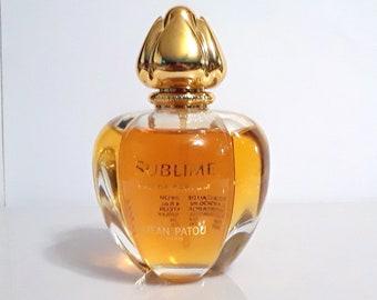 Vintage 1990s Sublime by Jean Patou 3.4 oz Eau de Parfum Spray Original Formula Old Bottle Style PERFUME