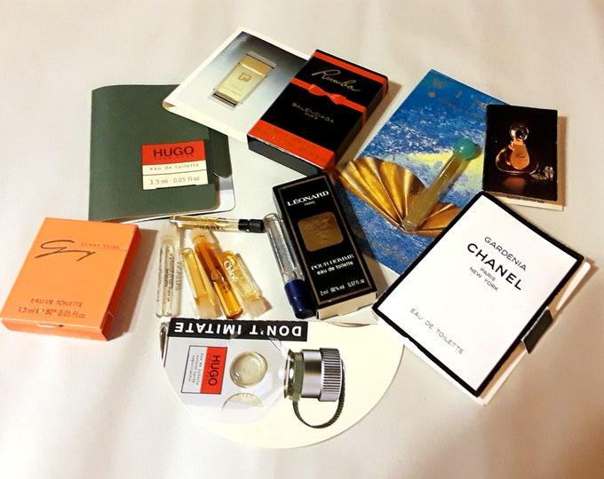 Vintage Perfume Sample Lot of 15 Assorted Brands Men's Women's Fragrance Samples
