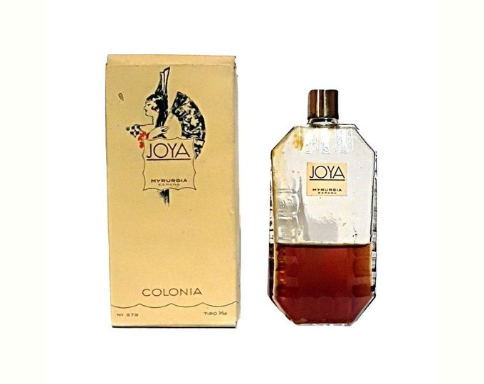 Vintage Joya by Myrurgia Perfume 1 oz (30ml) Cologne Splash 1950s Colonia and Box