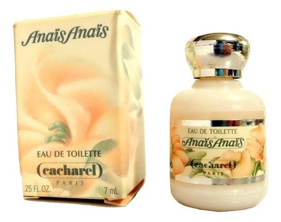 Vintage 1980s Anais Anais por Cacharel 0.25 oz Eau de Toilette Mini Miniatura y Caja PERFUME