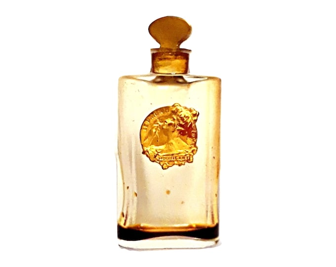 Antique Ideal Perfume by Houbigant Parfum 1920s Vintage Extrait Miniature Mini Crystal Baccarat Bottle
