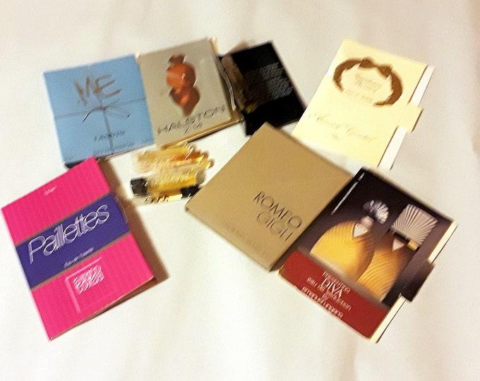 Vintage Perfume Sample Lot of 11 Assorted Brands Men's Women's Fragrance Samples
