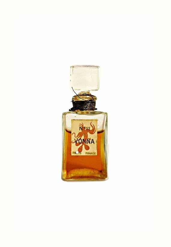 Antique No. 11 Perfume de Vonna 0.25 oz (7.5ml) Pure Parfum Vintage 1930s 1940s Extrait Splash