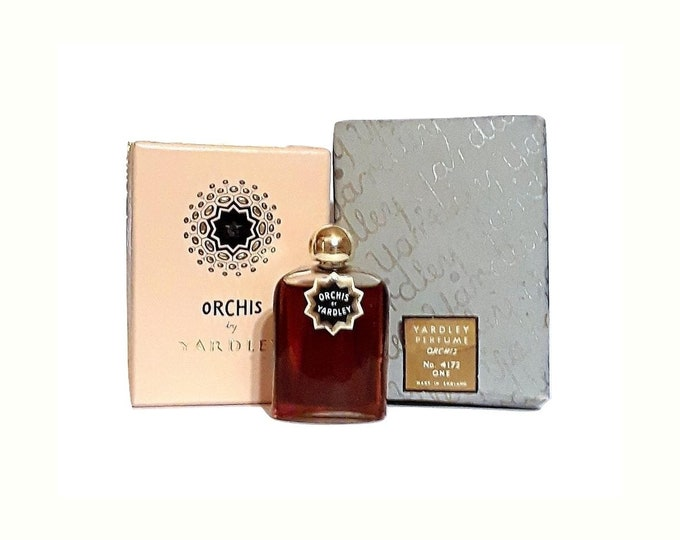 Antique Orchis by Yardley Perfume 0.25 oz (7.5ml) Pure Parfum and Box 1930s Art Deco Vintage