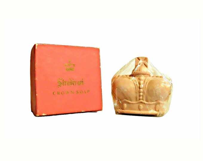 Vintage Stradivari Perfumed Soap by Prince Matchabelli 1950s Crown Shaped in Box