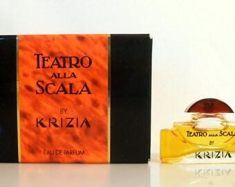 Vintage 1980s Teatro Alla Scala by Krizia  0.17 oz Eau de Parfum Mini Miniature Perfume and Box
