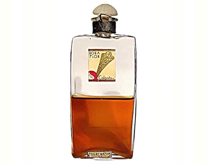 Antique Dona Flor Perfume by Colgate Toilet Water Vintage 1920s Art Deco American Glass Bottle