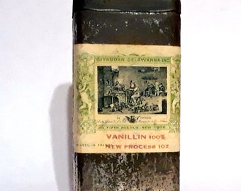 Vintage 1920s 1 oz Vanillin by Givaudan Delawanna Creation Essential Oil Perfumery Making