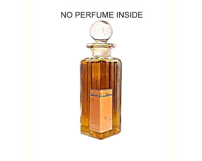 Vintage 1950s White Shoulders by Evyan 4 oz Cologne EMPTY Perfume Bottle
