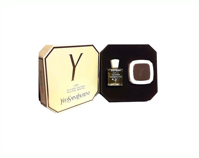 Vintage Y by Yves Saint Laurent 1.7 oz Eau de Toilette & 100g Soap Gift Set in Box Original 1970s Formula PERFUME