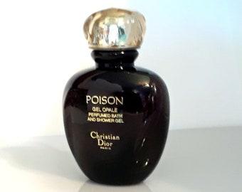 Vintage 1980s Poison by Christian Dior 3.4 oz (100ml) Gel Opale Perfumed Bath & Shower Gel ORIGINAL FORMULA PERFUME